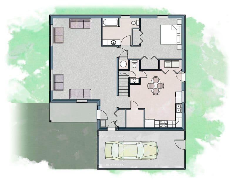 Clearfield - Zero Energy Home Plan
