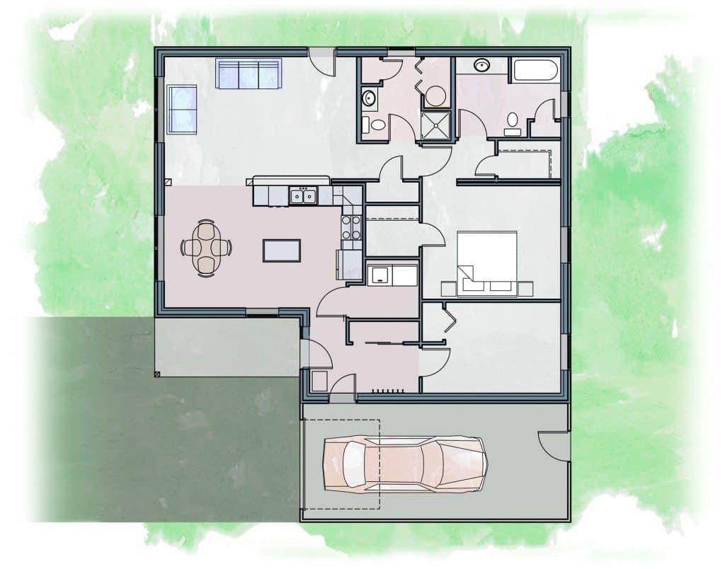 Daylight Zero Energy Home Plans
