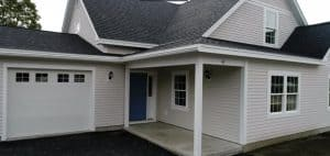 The modified Cape / Farmhouse look fits the neighborhood 8